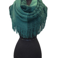 Forest Green Two Toned Infinity Scarf | Bellum&Rogue