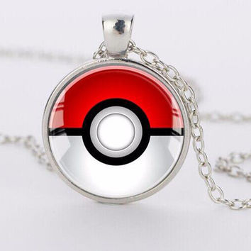 Pokemon Inspired Pendant Necklace
