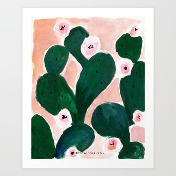 Cactus Bloom Art Print by CRYSTAL WALEN