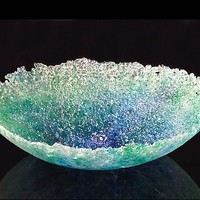 Glass Seascape Bowl by Justin Tarducci Michael Richardson Tim Underwood: Art Glass Bowl | Artful Home