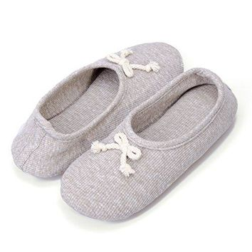 Moxo Womens Memory Foam Bedroom Ballerina House Slippers
