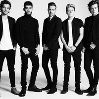 One Direction Black and White Music Poster