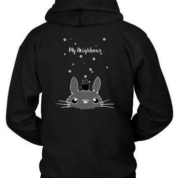ESBH9S Pusheen My Neighbour Hoodie Two Sided