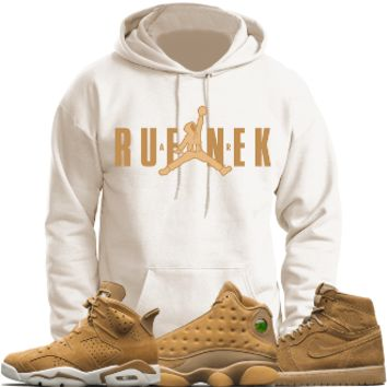 Jordan 6 Wheat Golden Harvest 13s Sneaker Hoodie - AIR HOODIE