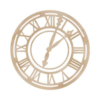 Kaisercraft: Roman Clock Face Wooden Flourish, for Mixed Media Art, Card Making, ETC