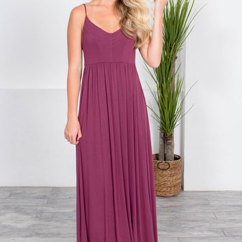 Kalani Dart Maxi Dress | Wine Red