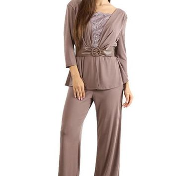 Long Formal Mother of the Bride Pant Suit