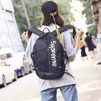 Supreme Woman Men Fashion Backpack Bookbag Daypack Shoulder Bag