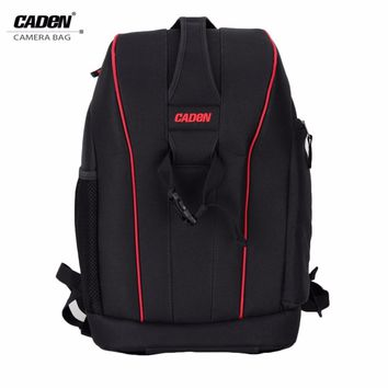 Caden Waterproof DSLR Digital Camera Bag Case Shockproof Photography Padded Large Capacity Travel Backpack for Canon Nikon