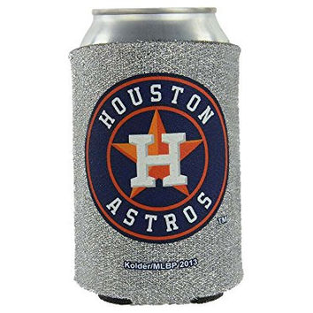 MLB 2013 Baseball Team Logo Womens Ladies Glitter Beer Bottle or Can Holder Koozie Cooler - All 30 Teams Avaialble! (Can, Houston Astros)