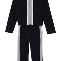 MONCLER - Striped trim velour tracksuit 4-14 years | Selfridges.com