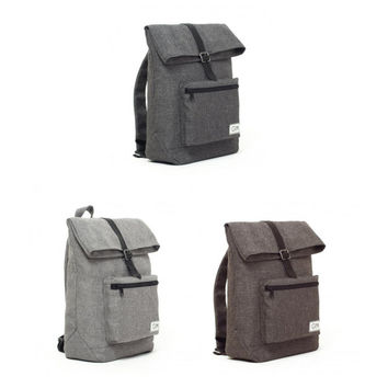 Mini Backpack, Small Backpack, Womens Backpack, Cotton Backpack, Women Rucksack, Canvas Backpack, Laptop Backpack, Grey Bag, Cloth Bags