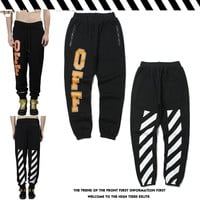 Sports Alphabet Stripes Pants [402634342436]
