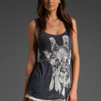 LAUREN MOSHI Bridgit Giraffe Head Swing Tank in Black at Revolve Clothing - Free Shipping!