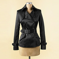Jamie Short Trench Coat - Short Coats - COATS - Jessica Simpson Collection