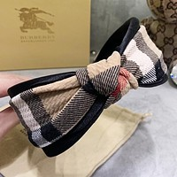BURBERRY New fashion plaid bow knot headband women
