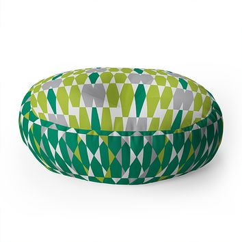Heather Dutton Abacus Emerald Floor Pillow Round