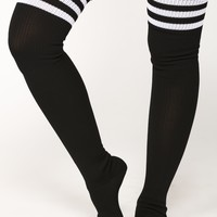 Bad Girl Knee High Socks - Black