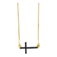 Diamond Fashion Necklace in 10k Gold 0.1 ctw