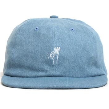 SS19 OK Polo Hat Washed Denim
