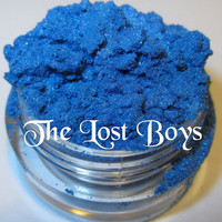 40% OFF DISCONTINUED The Lost Boys Electric Azure Blue Glitter Shimmer Natural Mineral Eyeshadow Mica Pigment 5 Grams Lumikki Cosmetics