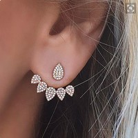 Strong Character Accessory Water Droplets Earrings [10985350343]