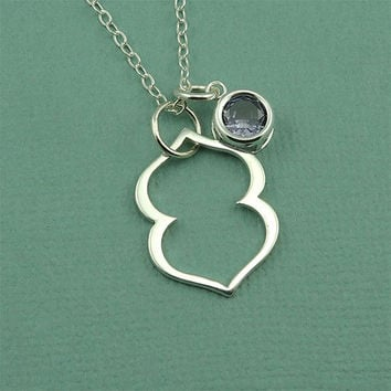 Third Eye Chakra Gemstone Necklace - sterling silver hindu yoga necklace - buddhist jewelry - gift