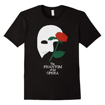 The Phantom of The Opera Broadway Show Musical Men White T-Shirt Size S To 3XL T Shirt Casual Short Sleeve Light TOP TEE