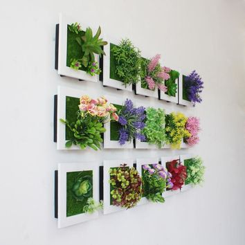 Creative 3D Artificial Plants Home Wall Decor ,Flowers/Floral Living Room