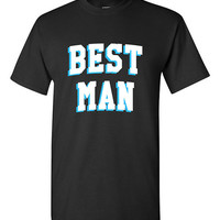 Best Man Bachelor Party T-shirt Tshirt Tee Shirt Gift Christmas Wedding Groomsman Groom Marriage Funny Cool Engaged Weekend Mates Varsity