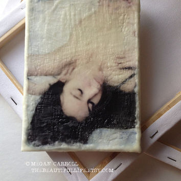 Photo Encaustic, Fine Art Nude, Wax Encaustic, Mixed Media, Original Art