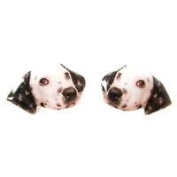 Realistic Dalmatian Head Shaped Animal Dog Breed Resin Stud Earrings | Made To Order | Handmade
