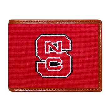 NC State Needlepoint Wallet by Smathers & Branson
