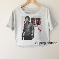 Andrew Lincoln Rick Grimes The Walking Dead TV Series Women Top Wide Crop Fashion T shirt