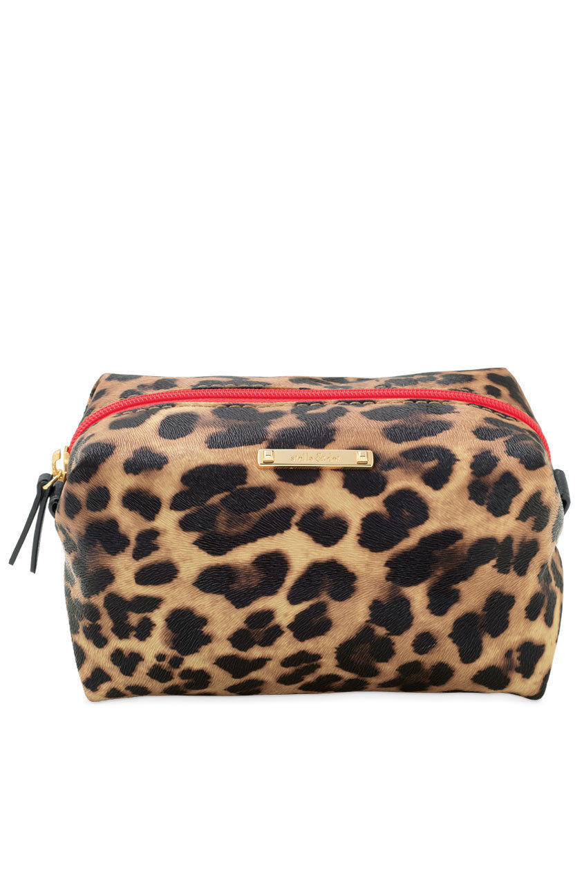 Leopard Print Zippered Cosmetic Case & from stella & dot