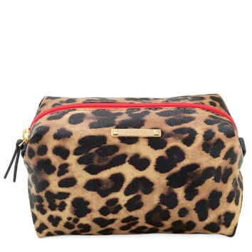 Leopard Print Zippered Cosmetic Case From Stella Dot Delectable Stella And Dot Pouf