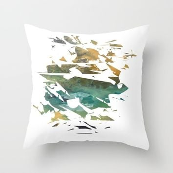 Abstract Acrylic Painting Broken Glass THE MOUNTAIN --Modern art Throw Pillow by Saribelle Inspirational Art | Society6