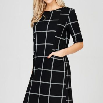 Work To Play Shift Dress - Black