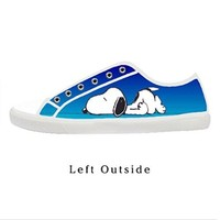 Custom Cute Snoopy Pattern Design Women's Canvas Shoes Fashion Shoes for Women