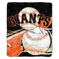 San Francisco Giants MLB Sherpa Throw (Big Stick Series) (50x60)