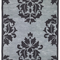 "Sands Trio Damask Purple Area Rug (5'X7'6"")"