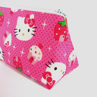 Hello Kitty makeup bag / cosmetic zipper pouch