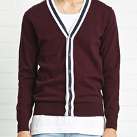 Stripe-Trim Cardigan