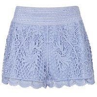 Crochet Shorts - Blue