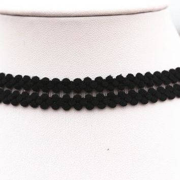 Fashion Choker Necklaces For Women Fashion Elastic Laciness Polyster Statement Necklaces Collares Love Necklaces