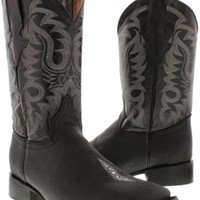 Men's stingray boots single stone leather black western cowboy square toe TWest