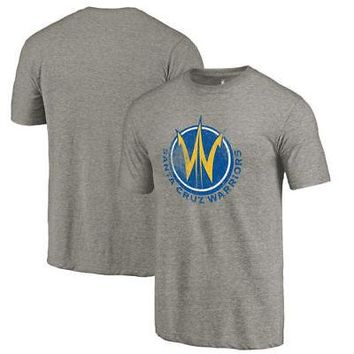Licensed Sports Santa Cruz Warriors Fanatics Branded Distressed Primary Tri-Blend T-Shirt - Gray KO_20_2