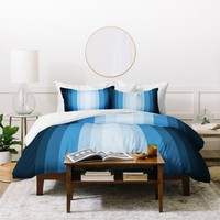 Lisa Argyropoulos Jazzy Blues Duvet Cover