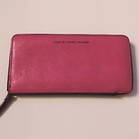 Women's Marc Jacobs Pink & Purple Colorblock Large  Zip Wallet