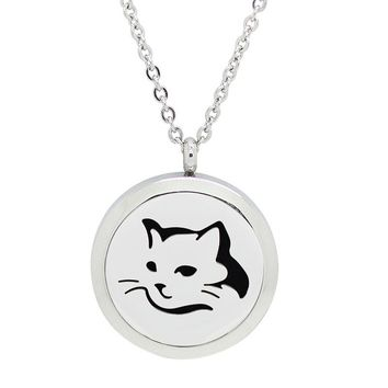 Cat Lover Essential Oil Diffuser Necklace